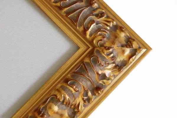breiter Antiker Bilderrahmen gold Barock