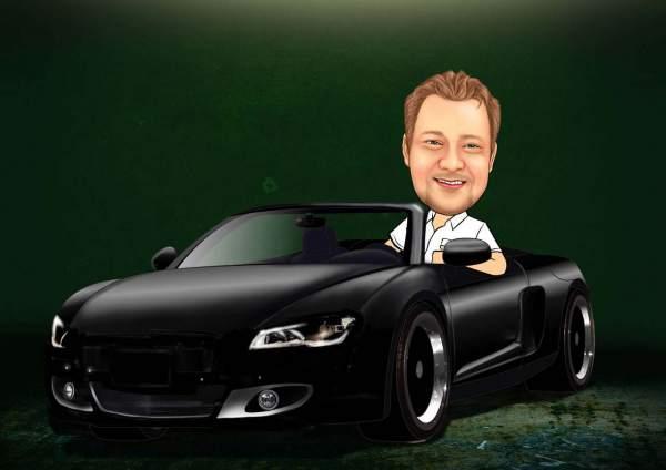 Schwarzes Cabrio