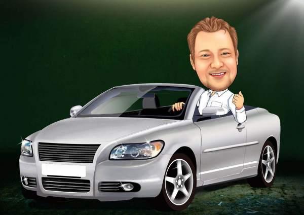 Stolzer Autobesitzer