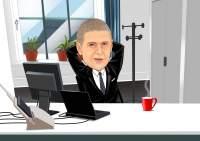Entspannter Boss